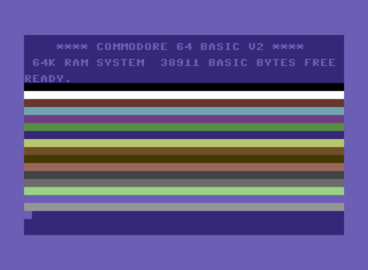 Commodore 64 color bands