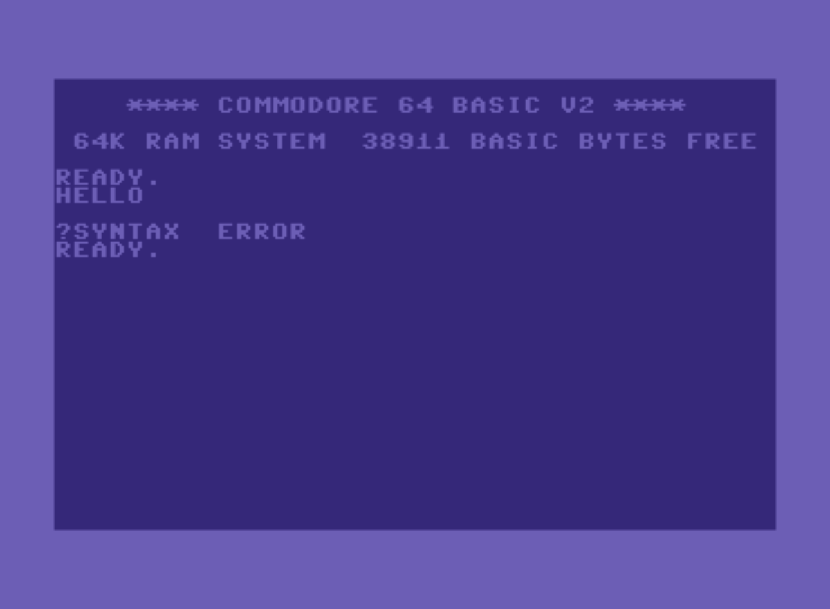 Commodore 64 syntax error