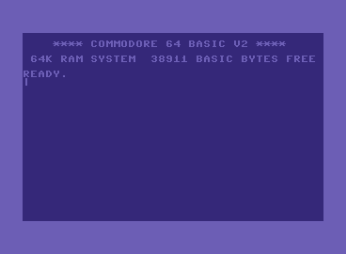 Commodore 64 startup screen